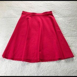 Lane Bryant Red Holiday Skater Skirt